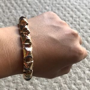 New statement gold bracelet cute squares chic
